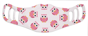 Kids Pink Owl - White Face Mask